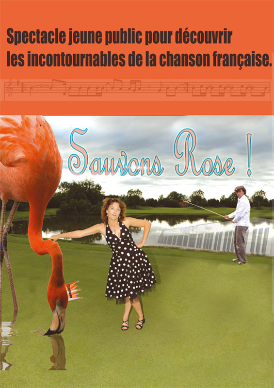 Affiche sauvons rose