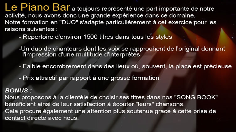 Texte piano bar